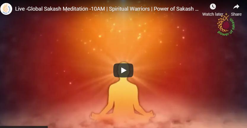 LIVE May 4 - Global Sakash Meditation   Spiritual Warriors   Power of Sakash