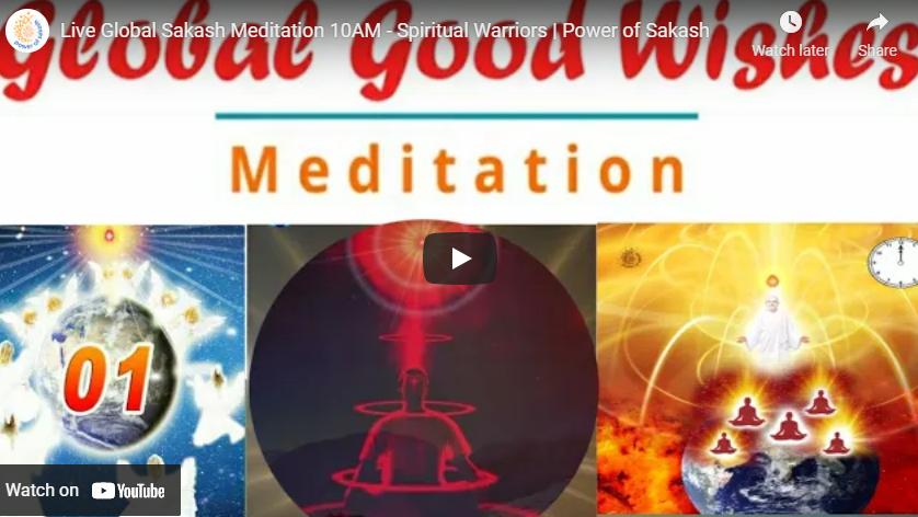 Live Global Sakash Meditation 10AM - Spiritual Warriors   Power of Sakash   May 2, 2021
